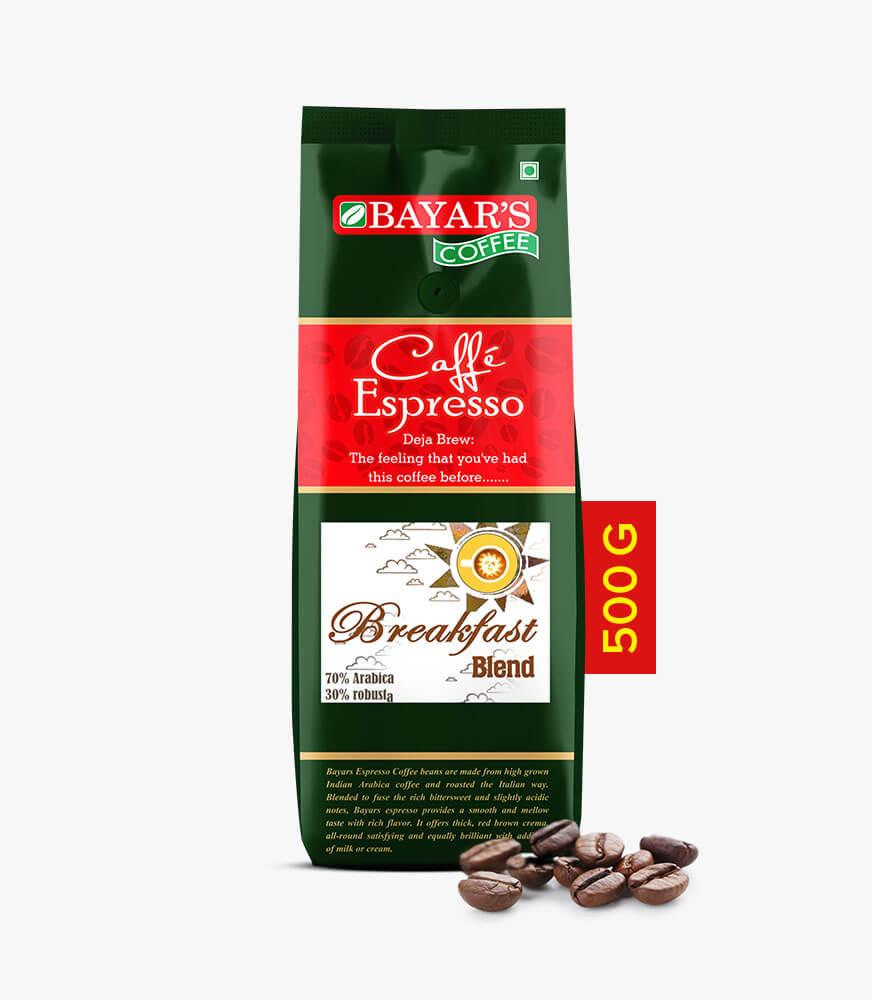 Bayar's Cafe Espresso - Breakfast Blend_500g Beans